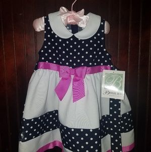Super cute 50s style toddler polka dot dress.